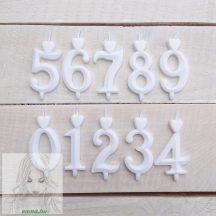 Számgyertya fehér 2, dobozos