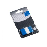 Jelölőcímke GLN Info Flags 25x43mm, 50 lap, transzparens/kék