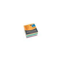Jegyzettömb GLN öntapadós, 75x75 mm, 450 lap, intenzív színek (narancs, sárga, kék, zöld, pink)