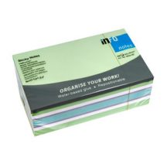 Jegyzettömb GLN öntapadós, 125x75 mm, 450 lap, pasztell színek (zöld árnyalatok)