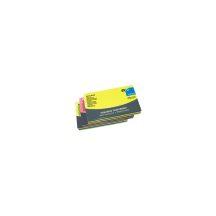 Jegyzettömb GLN öntapadós, 125x75 mm, 80 lap, BRILLIANT MIX (sárga. zöld, pink)