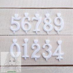 Számgyertya fehér 4, dobozos