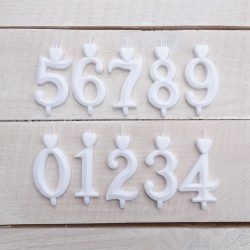 Számgyertya fehér 6, dobozos
