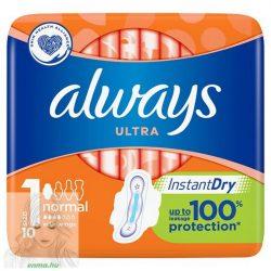 lways Ultra Normal Szárnyas Egészségügyi Betét (1-Es Méret), 10 Betét
