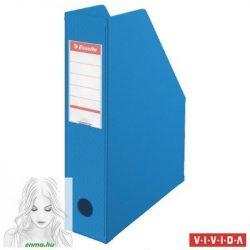 Iratpapucs, PVC/karton, 70 mm, összehajtható, ESSELTE, Vivida kék