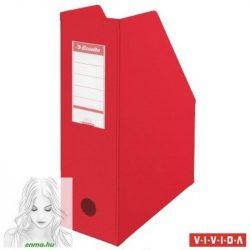 Iratpapucs, PVC/karton, 100 mm, összehajtható, ESSELTE, Vivida piros