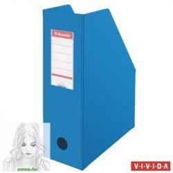 Iratpapucs, PVC/karton, 100 mm, összehajtható, ESSELTE, Vivida kék