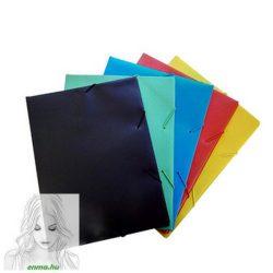 Gumis mappa TREND A/4 PVC fekete 10db/csom