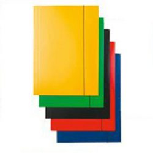 Gumis mappa FORNAX karton A/4 400 gr,sárga