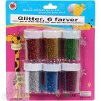 Csillámpor, vegyes színek a bliszter 6 dobozkát tartalmaz